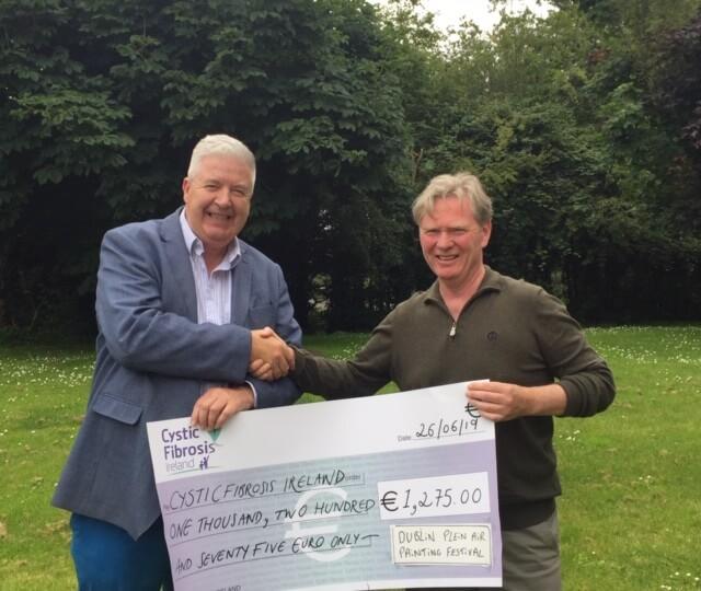 Dublin Plein Air Donation to Cystic Fibrosis Ireland